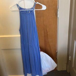 baby blue tank top strap dress